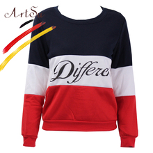 ArtSu 2017 Autumn Casual Pullovers Winter Women Fleeve Sweater Printed Letters Tracksuit Sweaters Sudaderas New Tops EPHO80027