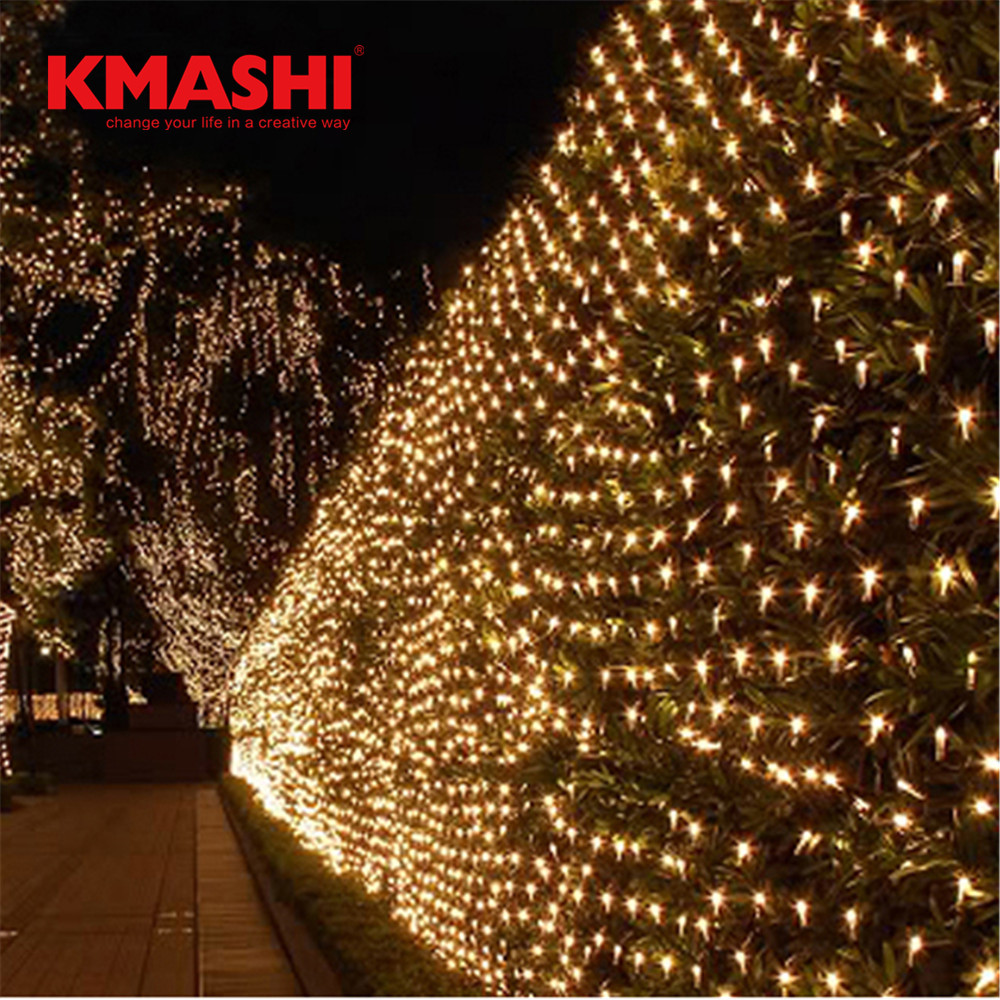 Kmashi Warm White LED Net Lights 6Mx4M 672 LEDs Christmas String Lights Waterproof Fishing Net Light Outdoor Decorate 110V/220V 2w 3500k 40 led warm white decorative string light warm white 4m