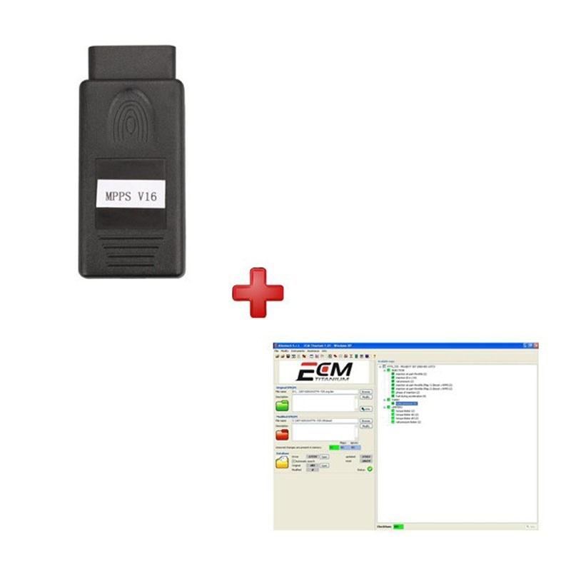 MPPS V16 Plus ECM TITANIUM V1.61 With 18475 Driver ECU Chip Tuning Tool for EDC15 EDC16 EDC17 удлинитель zoom ecm 3
