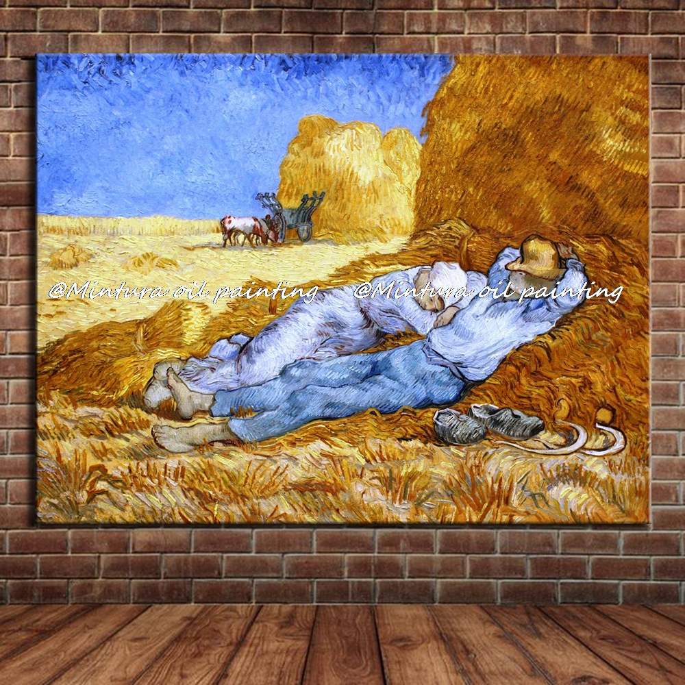 Rest from work of vincent van gogh handmade reproduction oil painting on canvas wall art picture for living room home decorationRest from work of vincent van gogh handmade reproduction oil painting on canvas wall art picture for living room home decoration