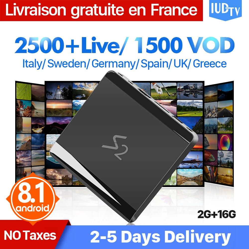 IP TV Box Spagna Italia Europa Svezia IPTV Android 8.1 S2 2 + 16G Germania REGNO UNITO EX-YU Grecia Indiano abbonamento IPTV Ricevitore TV