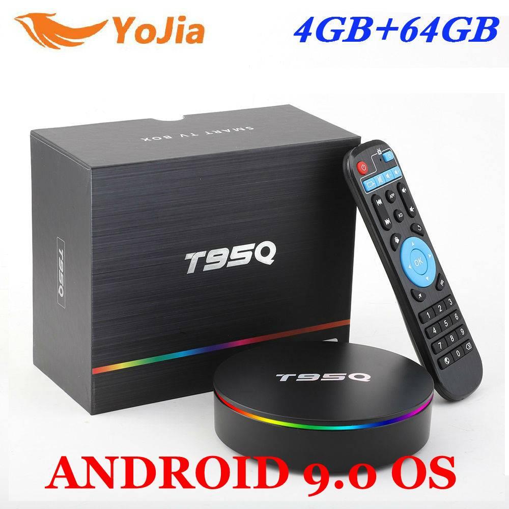 Amlogic S905X2 Android 9.0 TV BOX T95Q 4K lecteur multimédia intelligent T95Q 4GB RAM 64GB ROM Quad Core 2.4G & 5GHz Wifi PK X96 MAX TVBox