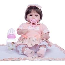Princess Anna 18 inch  doll reborn babies silicone reborn baby dolls realistic lifelike toys birthday gift wholesale 23 fashion doll reborn babies full silicone vinyl newborn dolls blonde wig baby toys for princess birthday gifts