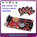 64*1024 пикселей USB порт калер ПРИВЕЛО плату контроллера X4S семь цветов для полноцветный СВЕТОДИОДНЫЙ экран открытый двухсторонний светодиодный знак