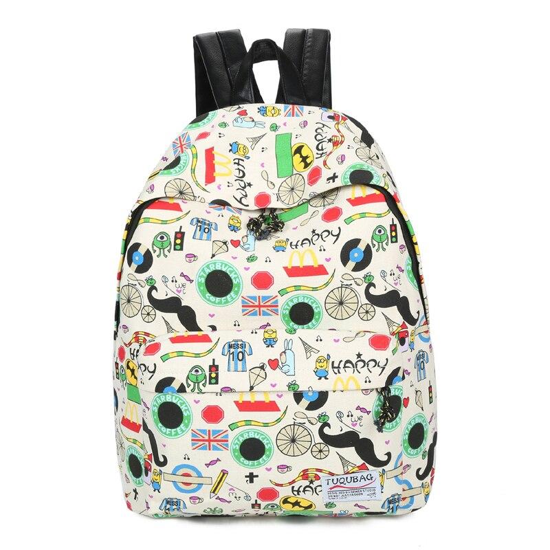 School-Backpacks Book-Bag Canvas Girls Student Children New for Boys Pupils Preppy Kids