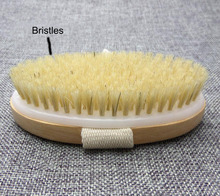 1pc hot sale Natural Wooden Brush Bathroom Accessories Bristle wooden brush Bath Brush sponge 12.5*7cm D5SY18