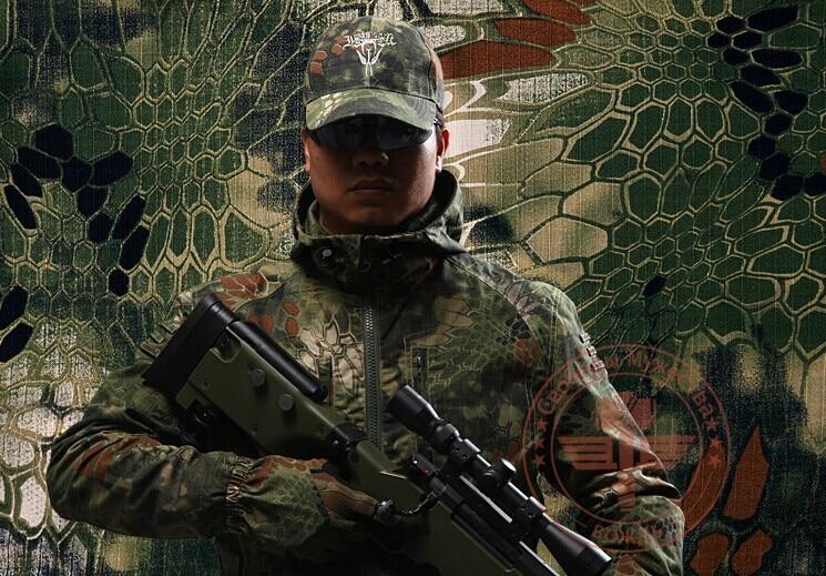 MANDRAKE Combat Ripstop Jacket Hoodie Woodland Coat Kryptek style