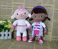 Free shipping 2pcs/lot 30cm=11.8inch Doc McStuffins plush soft toys,Dottie girl and McStuffin Lambie sheep plush
