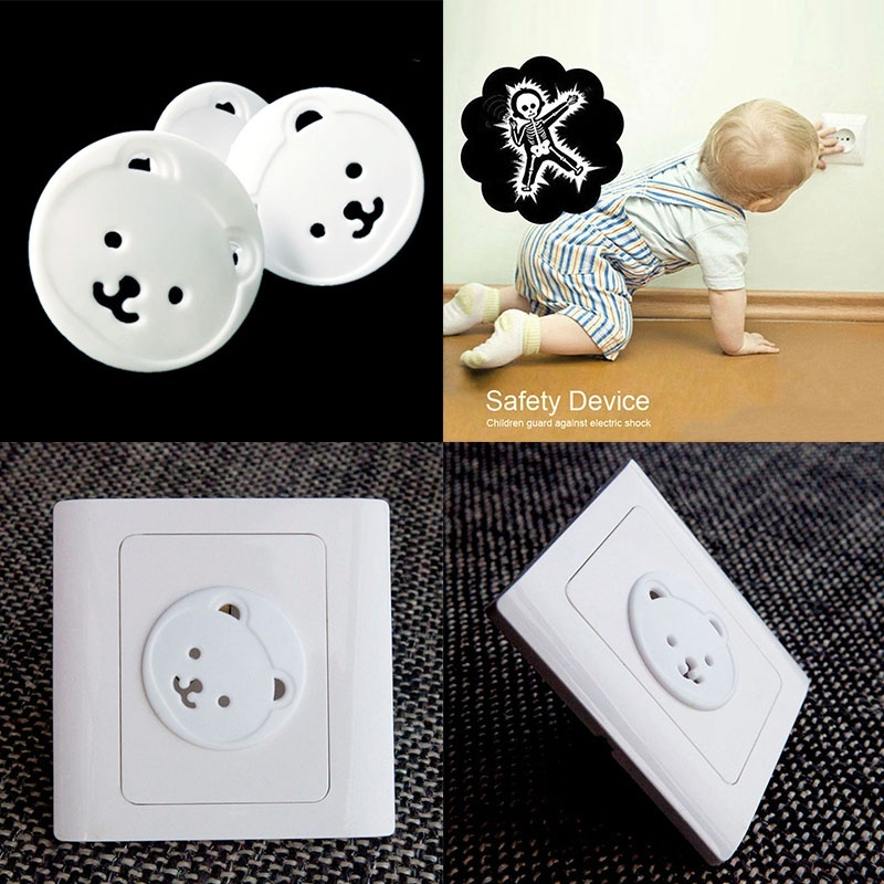 Hot Selling 10/20Pcs Safety Outlet Plug Covers Child Baby Proof Electric Shock Guard Cap