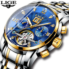 Relogio Masculino LIGE Mens Watches Top Brand Luxury Automatic Mechanical Watch Men Full Steel Business Waterproof Sport Watches mens watches top brand lige luxury automatic mechanical watch men full steel business waterproof sport watches relogio masculin