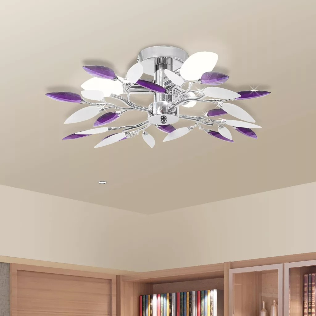 idaXL Ceiling lamp and leaf shaped arm Acrylic E14 Modern Ceiling Lights For Living Room Bedroom Study Room