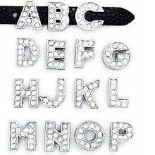 """20 шт./лот, 10 мм, стразы для самостоятельной сборки, блестящие буквы """"A-M можно выбрать каждую букву"""", подходят для брелков и браслетов"""