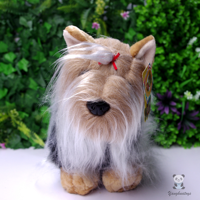 Plush Animals font b Toy b font Yorkshire Simulation Dog Doll Children S font b Toys