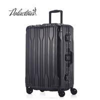 20 24 26 28 Aluminum frame and rods and PC TSA scratches travel trolley case rolling luggage suitcase with wheels