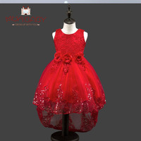 Girls Dress Childrens Spring And Summer Clothes Princess Dress With Tail Sleeveless Girl Kids Pary Clothing
