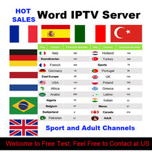 IPTV M3U Subscription Latin Iptv Italian French Spanish Turkish German Portugal Smart TV Account for Android Box Mag X96 Enigma2(China)