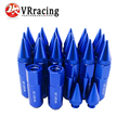 VR RACING- 20PCS ALUMINUM EXTENDED TUNER WHEEL LUG NUTS WITH SPIKE FOR WHEELS/RIMS M12X1.25 VR-ELBN12125