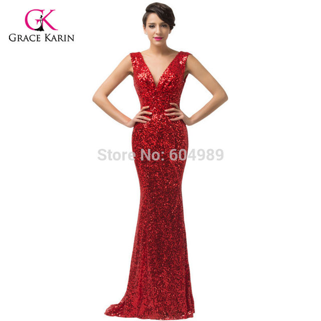 Online Shop Luxury Gorgeous Gold Mermaid Evening Dresses Grace Karin ...