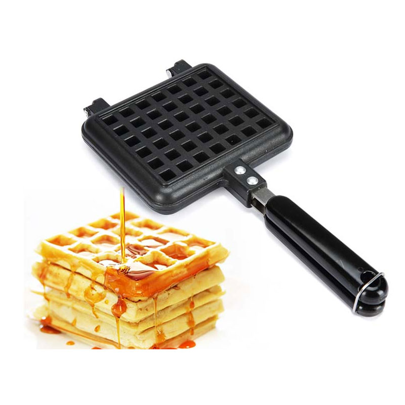 New Rectangle Shape Waffle Mold Sandwich Pan Dessert Snack Cooker Maker No Stick Coating Mould Baking Tool Gas Furnace Stove 1pc