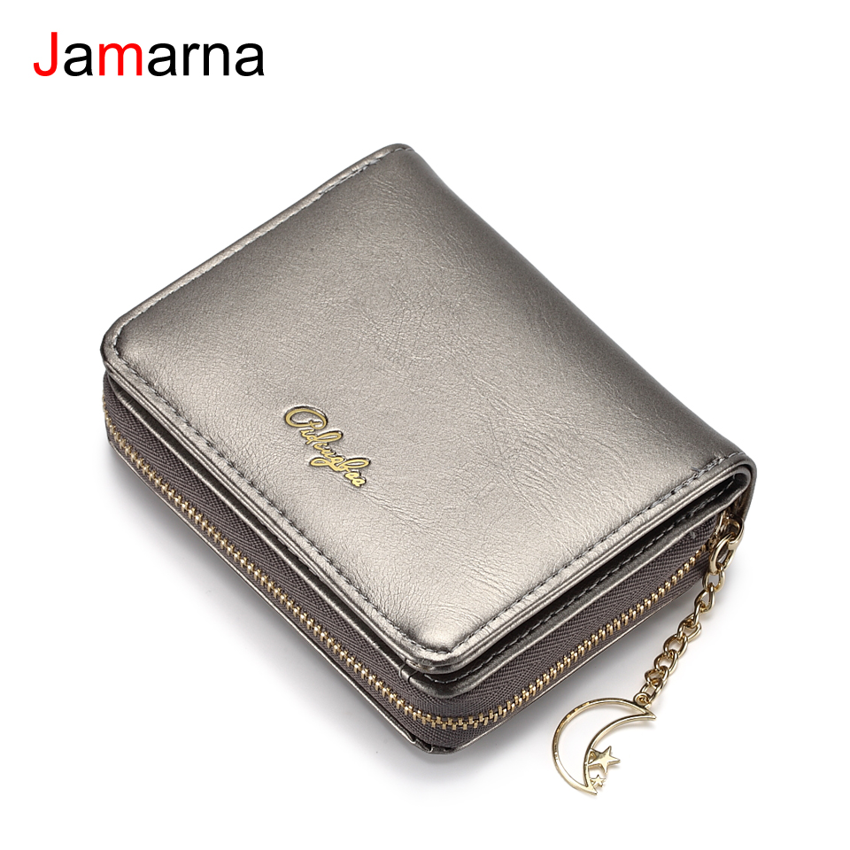 Jamarna Wallet Female Card Holder Wallet PU Leather Women Wallets Female Purse Zipper Coin Purse Card Holder Wallet Small стоимость