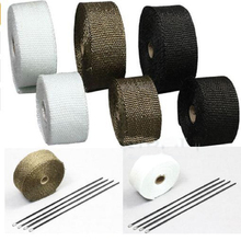 5M and 10M Motorcycles Exhaust Front Pipe Anti-hot Wrap Heat Manifold Insulation Cloth Roll With 3 Colors option