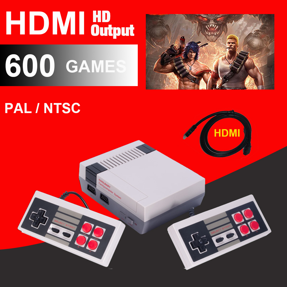 HDMI HD Retro Classic handheld game player family mini TV video game console Built-in 500/ 600 Games with 4/2 button controllers 4 styles hdmi av pal ntsc mini console video tv handheld game player video game console to tv with 620 500 games