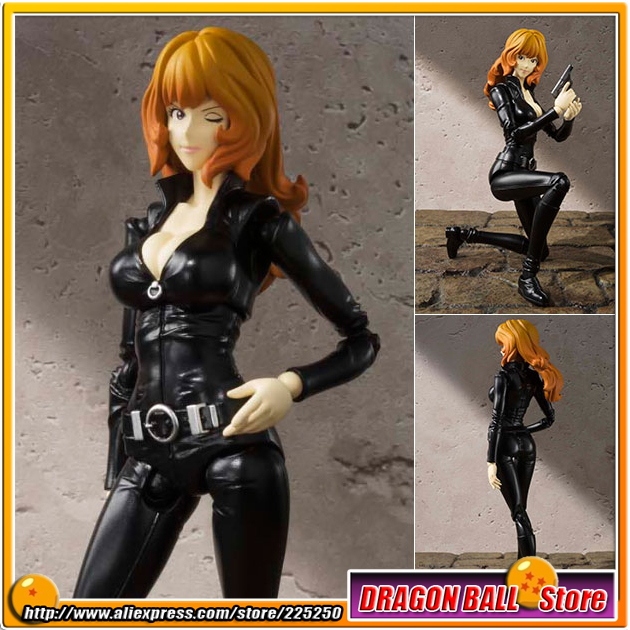 Japan Anime Lupin the 3rd Original BANDAI Tamashii Nations SHF/ S.H.Figuarts Toy Action Figure - Fujiko Mine