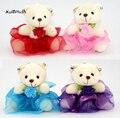 5 цветов-свадебный подарок медведь плюшевые игрушки, чучела животных Медведь Букет украшение цветок медведь плюшевая кукла игрушка