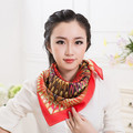 Classical Pattern Small Square Scarf Silk Head Scarves Shawl Wrap Freeshipping&Wholesale