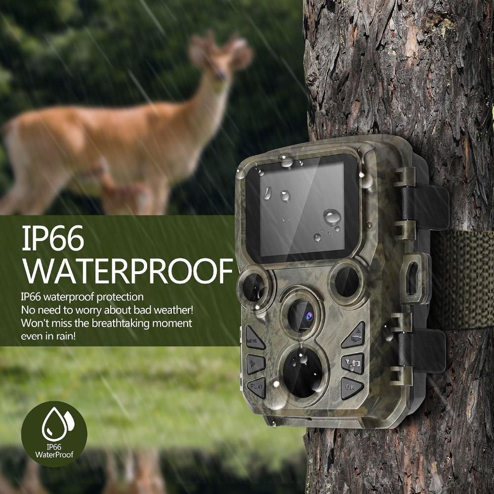 MINI Câmera Caça 12MP Chasse Câmera com Visão Noturna 1080 P Full HD Wildlife Escoteiro Caça Camera Foto Armadilhas caçador Cam