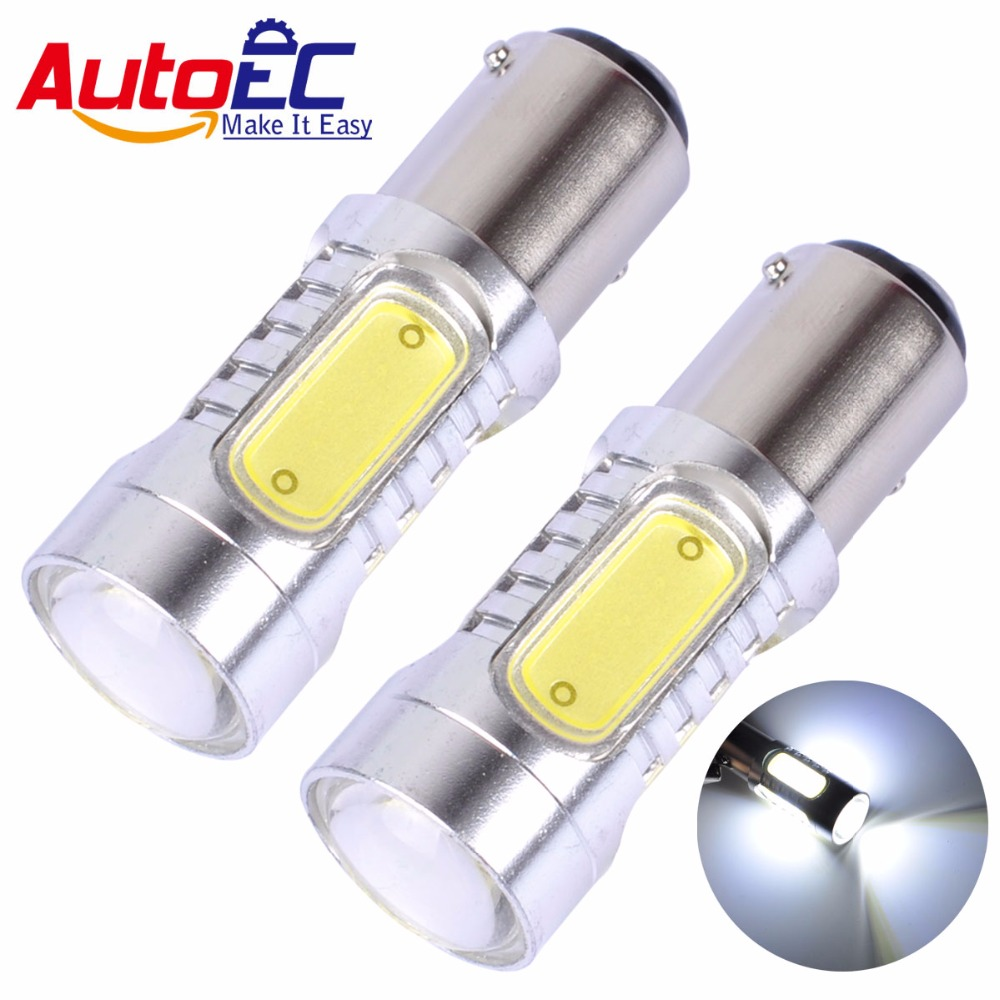AutoEC Car led 1156 1157 BA15S BAY15D p21w High power 5 smd led braking Parking Lights lamp blub white red #LF61