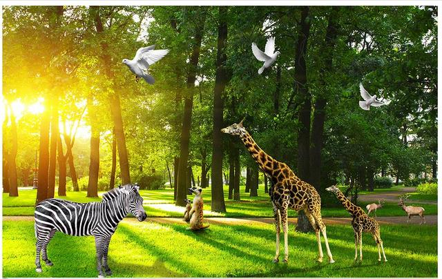 3d Photo Wallpaper Custom Murals Mural Animals Wall The Wizard Of Oz Forest Background