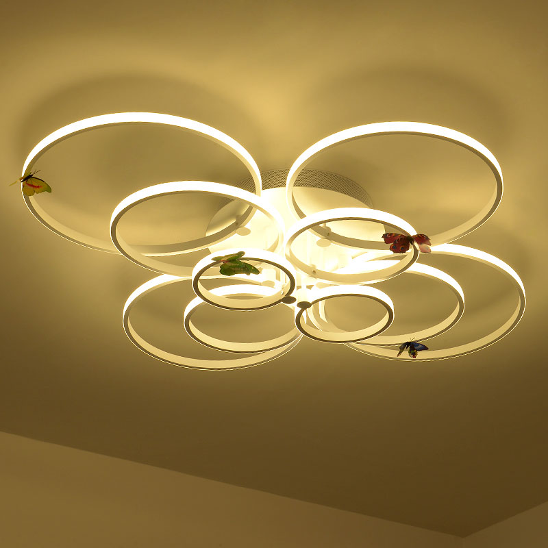 Modern Led Ceiling Light Circle Style Acrylic Shade With