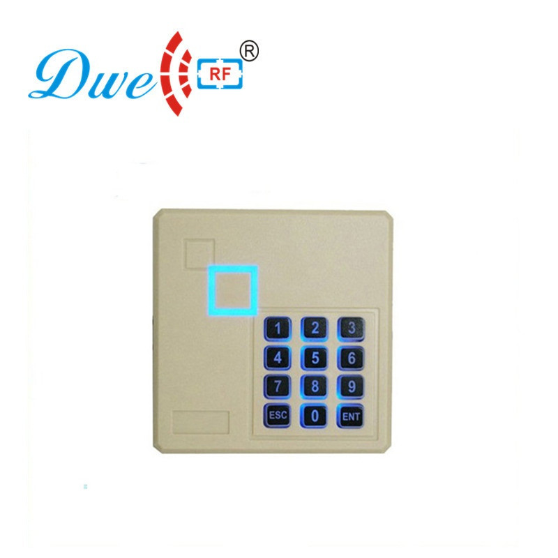 DWE CC RF Free shipping backlight keypad 125khz EM -ID+ weigand 26 rfid reader door access control +proximity card reader dwe cc rf wiegand26 125khz rfid id card tag keyfob reader waterproof access control wg26