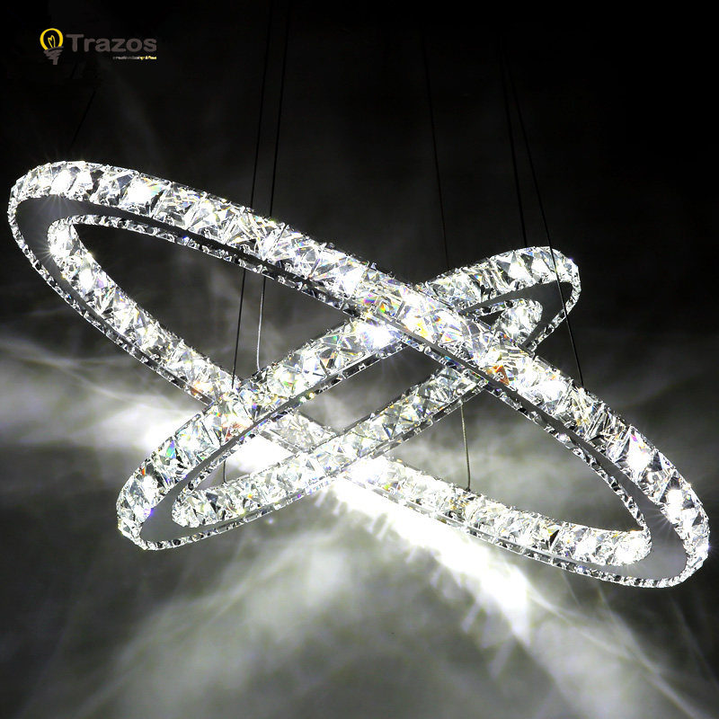 Modern chrome chandelier crystals diamond ring led lamp stainless modern chrome chandelier crystals diamond ring led lamp stainless steel hanging light fixtures adjustable cristal led lustre in chandeliers from lights mozeypictures Image collections