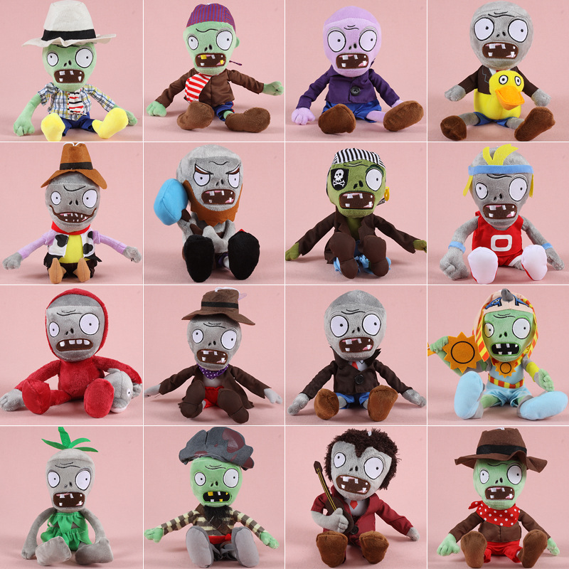 10PCS Lot 30cm Plants vs Zombie Stuffed Animal Toys Doll Plants vs Zombies Plush Toys Plush Children Kids Toys Birthday Gifts stuffed animal 44 cm plush standing cow toy simulation dairy cattle doll great gift w501