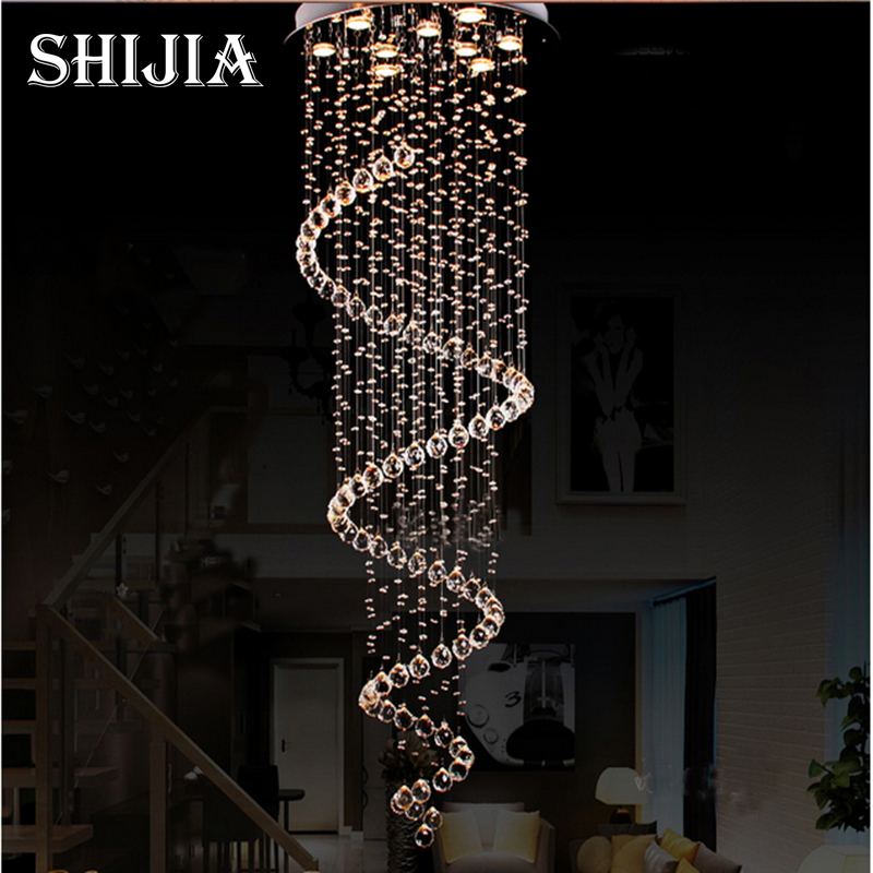 Modern Clear LED Lustre Crystal Chandelier Ceiling Lamp Home Decor Suspension Pendant Lamp Fixture Light цена