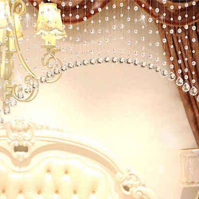 2018 mới nhất Kính Pha Lê Đính Cườm Curtain Rèm Bead Room Divider Tassel Rèm Thời Trang cho phòng ngủ