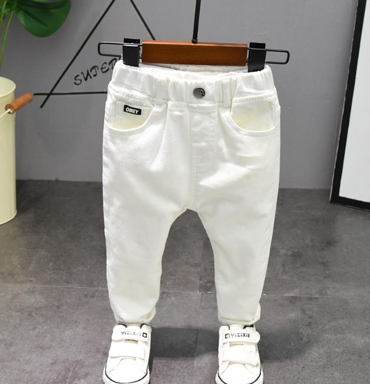 Children's pants Chorus Clothing Pure White/Black Students Contest Straight Pants Baby Boys Comfortable Latin Dance Trousers 4