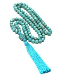 108 Japa Mala necklace 8 mm natural stone beads prayer beaded