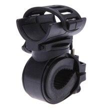 Поворот на 360 градусов Велосипедный Спорт фонарик крепление резины светодиодный голова передний MTB свет держатель зажим для Диаметр 28-40 мм велосипед аксессуар