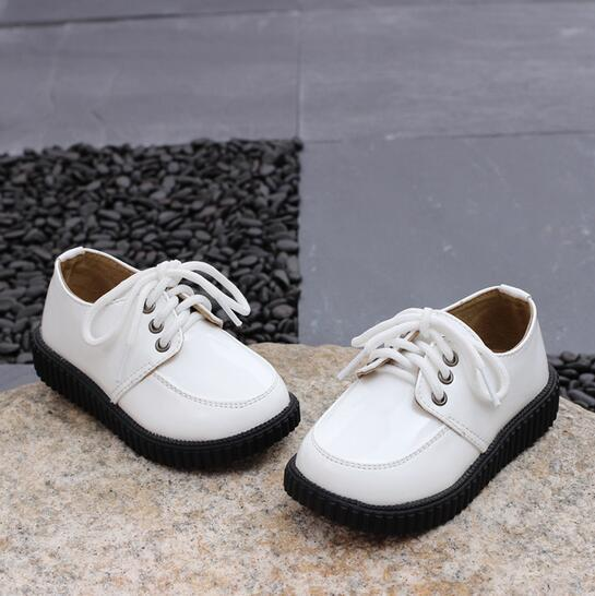 NEW Spring/Autumn Children Leather shoes Flat with Genuine leather Single shoes Boys Girls Casual shoes 04