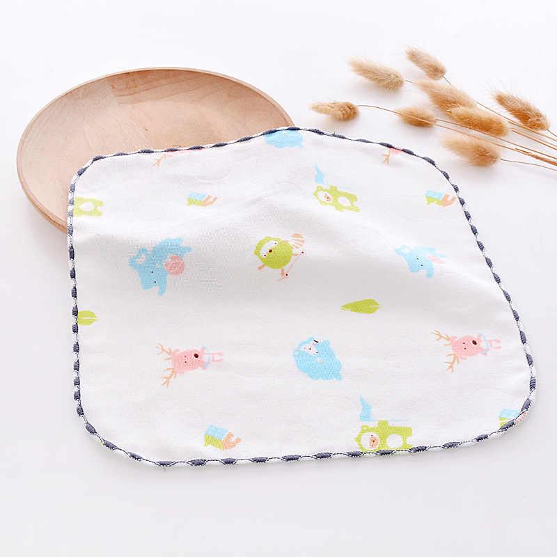 Небольшой площади Детский носовой платок мультфильм новорожденных кормящих Мягкий хлопок муслин кормления лицо салфетка для рук полотенце 25*25 см