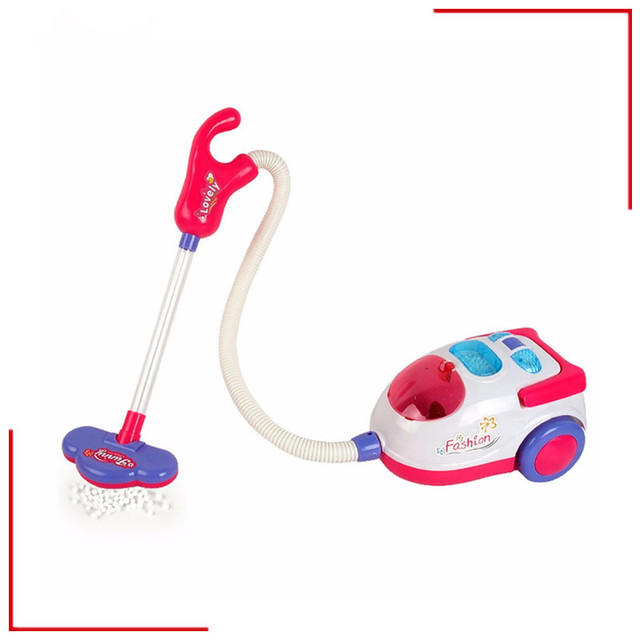 Pretend Play Toy Vacuum Cleaner With Music And Light For Girls Novelty Cosplay Educational