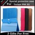 Moda 2 fold Folio PU stand caso capa de couro para Teclast P98 3G 9.6 polegada telefonema tablet Colorido cor têm em estoque