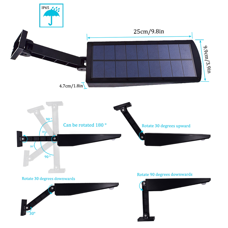 Waterproof and Motion Sensor Outdoor Solar Light with 48 LED and Rotatable Pole for Stairs and Yard 2