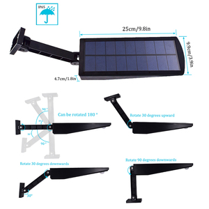 Image 3 - 900lm Led Solar Light Outdoor Waterproof Lighting For Garden Wall 48 leds Four Modes Rotable Pole Solar Lamp Newest