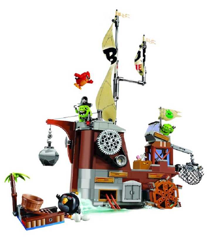 BELA Piggy Pirate Ship Building Blocks Sets Bricks Birds Model Kids Classic Toys For Children Compatible Legoings friends 449pcs bela 10295 laval s fire lion model diy building blocks for children sets classic bricks toys compatible with lego