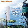 Comfast 2.4G ao ar livre CPE ponte 150 M long range Signal Booster extensor AP Sem Fio 14dbi wi fi repetidor RJ45 WAN router cpe