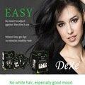 5 mins Natural fast colored hair blacken shampoo 25ml DEXE Permanent herbal dye hair cream for white hair repair treatment mask